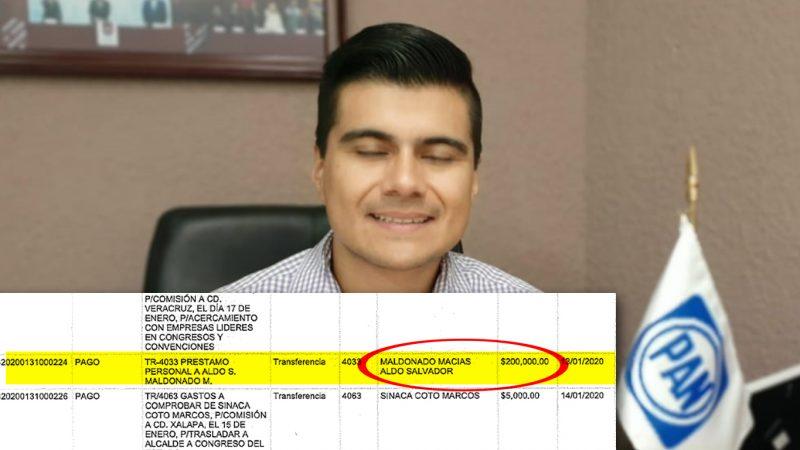 """Con préstamos personales """"maicea"""" Alcalde de MORENA al Panista Aldo Maldonado"""
