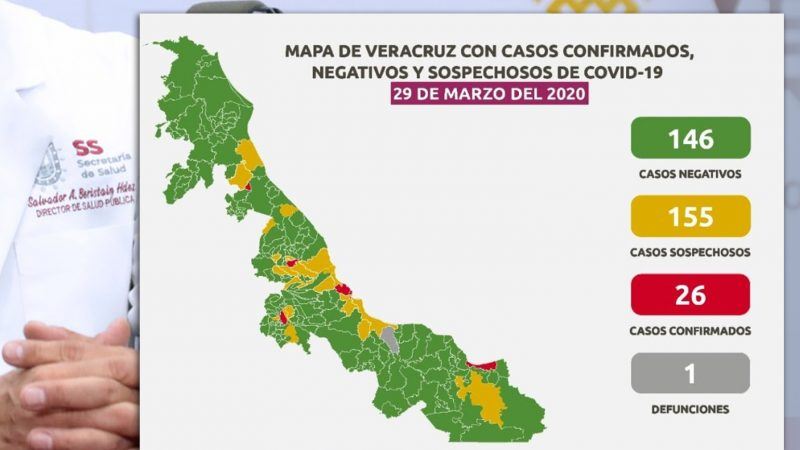 Reportan primera muerte por COVID-19 en Veracruz