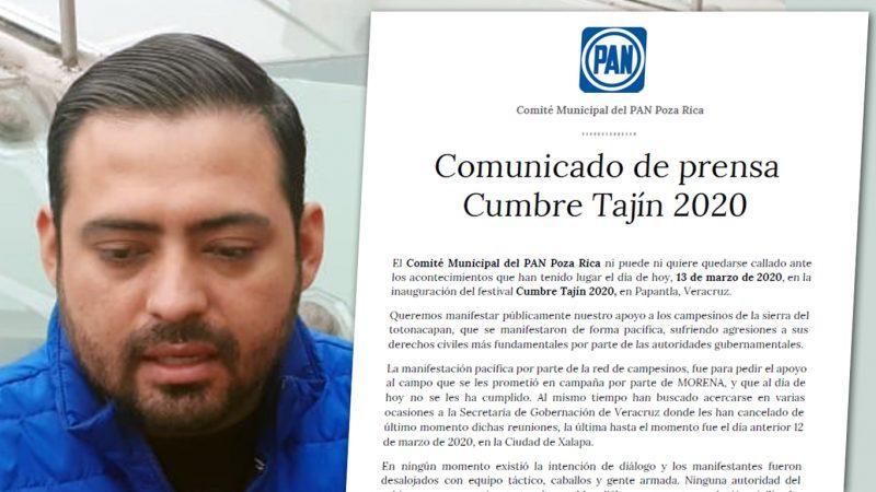 Se cuelga el PAN de Poza Rica de la represión a campesinos