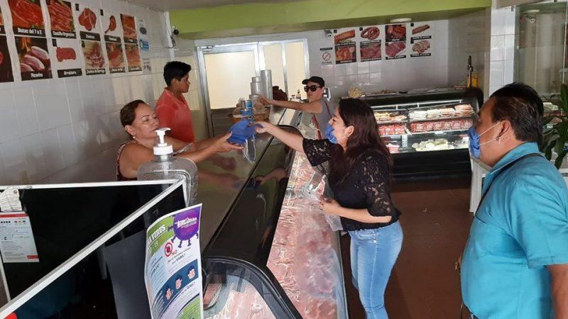 Revisan medidas sanitarias en comercios de Tihuatlán