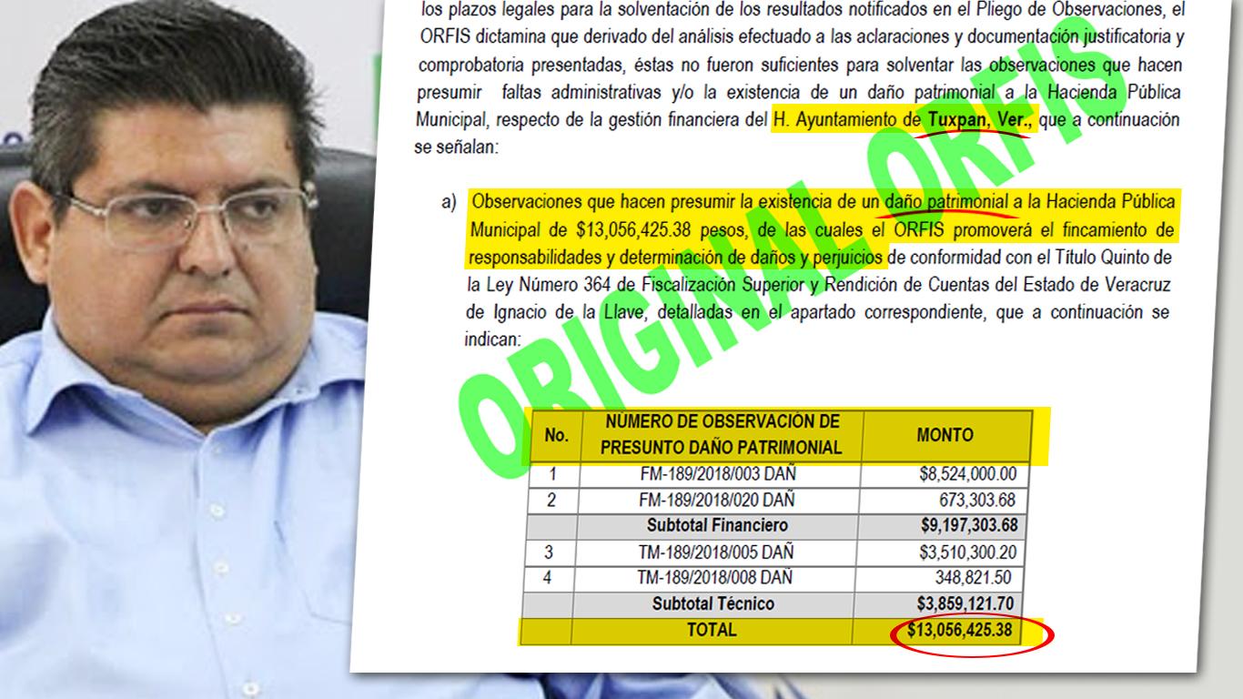 Alcalde Tuxpeño huele a cárcel